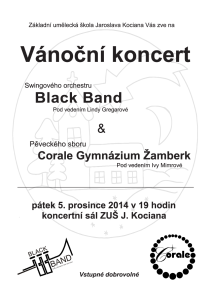 2014-12-05-Usti-nad-Orlici-Black-Band-Corale-plakat