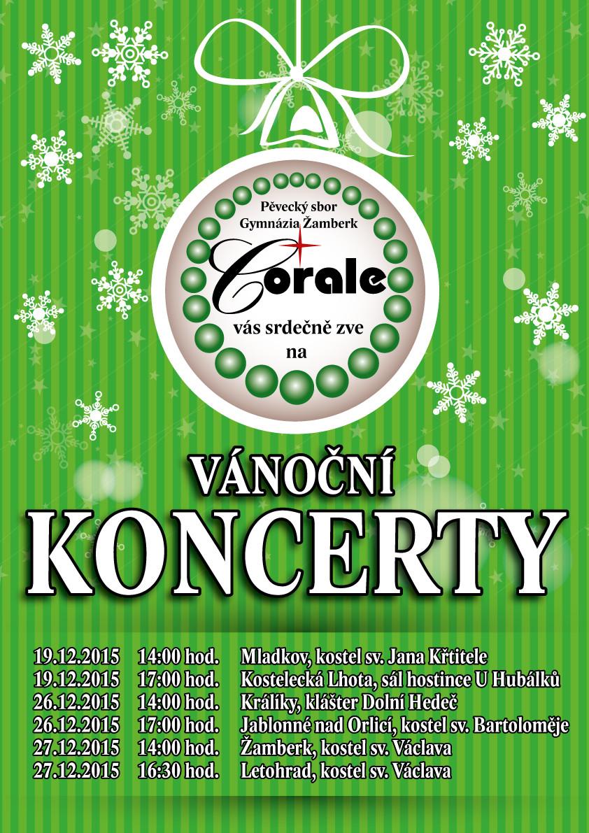 Plakát Corale Vánoce 2015